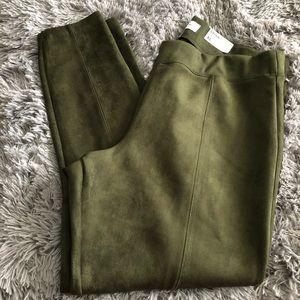 4/20$** green velvet legging pants size XL